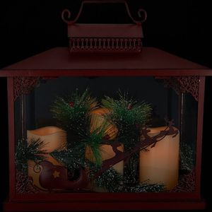 Oversized Holiday Lantern w/ 3 Flameless Candles for Sale in Pompano Beach, FL