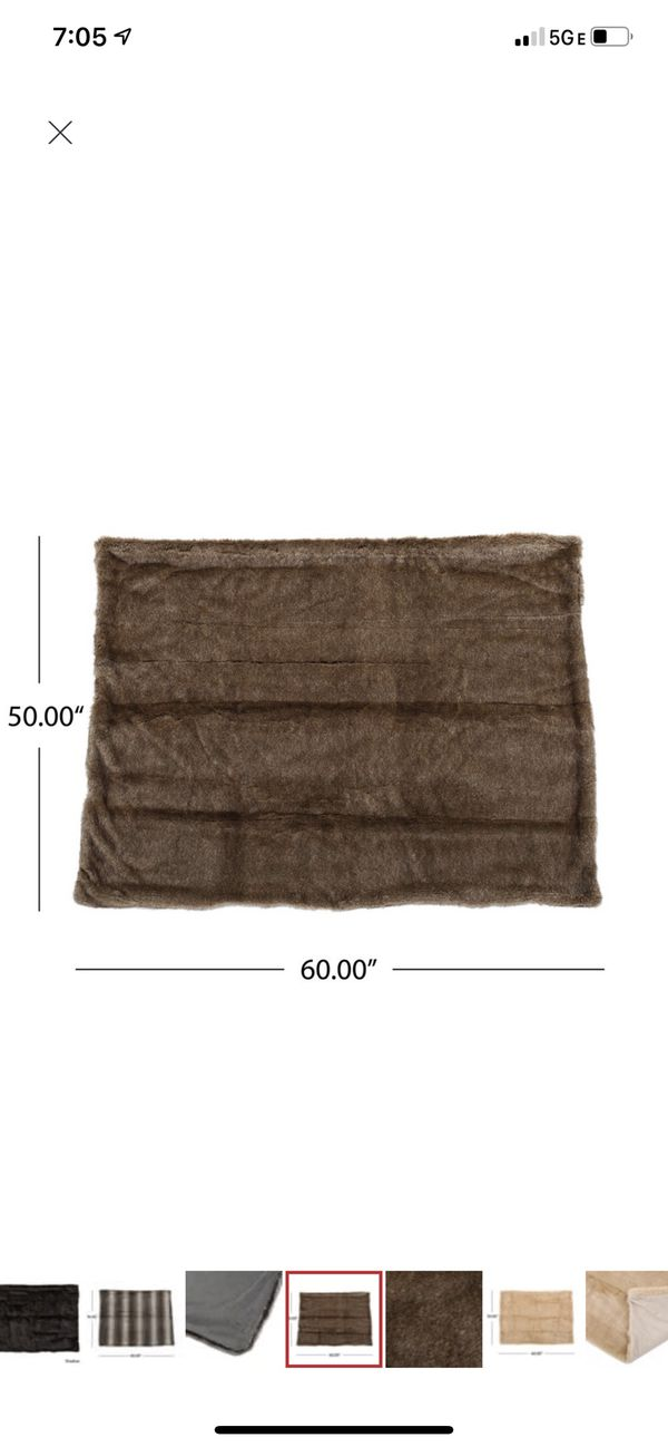 Fur Throw Pillow and Blanket