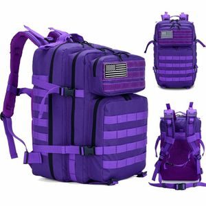 Purple Tactical Backpack 45L With Flag Patch - New for Sale in Happy Valley, OR