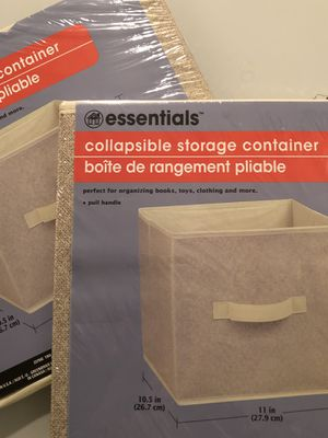 Super Sunday $10 Special: New! ESSENTIALS Beige Collapsible Storage Containers: Set for $10; Individually for $5/each for Sale in San Bruno, CA