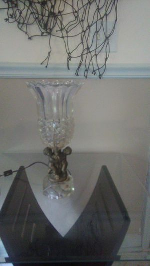 Glass antique lamp for Sale in TEMPLE TERR, FL