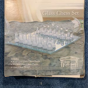 Glass Chess Set for Sale in Monroe Township, NJ