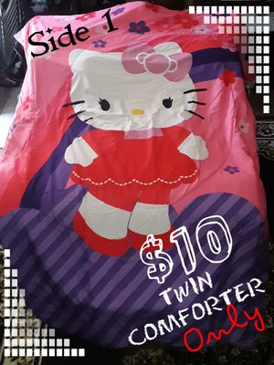 Hello Kitty Reversible Twin Size Comforter for Sale in Anaheim, CA