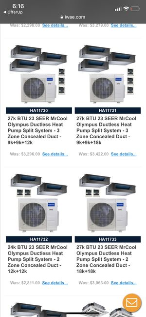 Brand new & used hvac systems and restaurants equipment for Sale in Arlington, VA