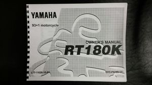 Yamaha RT 180 owners manual for Sale in Saint James, MO