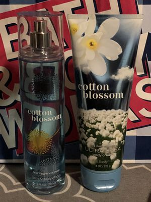 Cotton Blossom Fine Fragrance Mist and Ultra Shea Body Cream. Sold Online Only. Sold As A Set. $9.50 By Bath And Body Works. See Description For Deta for Sale in Fontana, CA