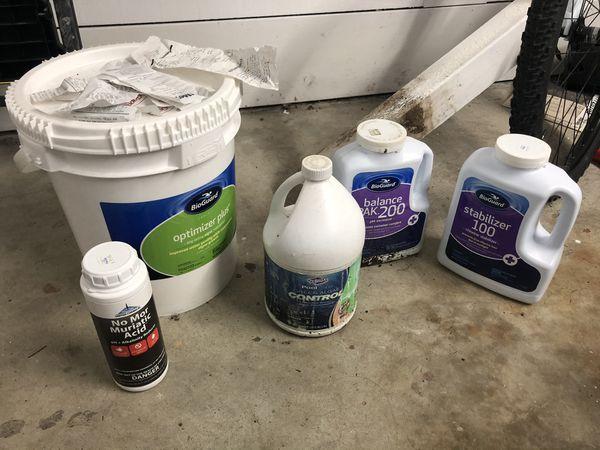 Swimming Pool hot tub chemical stabilizer chlorine tabs muriatic acid bioguard