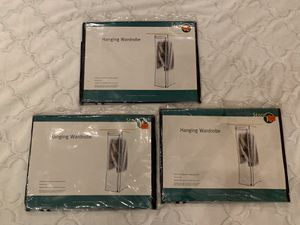 3 NEW Hanging Wardrobe Clothing Protection! for Sale in Buffalo Grove, IL