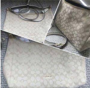 New COACH Signature Purse • Designer Bag • Creme Beige White Cream for Sale in Bailey's Crossroads, VA