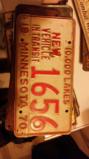 Lot of Vintage MN License Plates for Sale in Mason City, IA