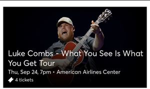 Luke Combs for Sale in Fort Worth, TX
