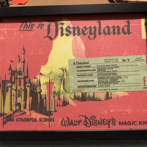 Disney Collection Of Books Also Original Ticket To Disneyland The Admission Was 50 Cents Extremely Collectible for Sale in Fontana, CA