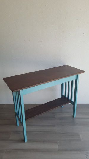 Turquoise Distressed-look Console Table for Sale in Federal Dam, MN