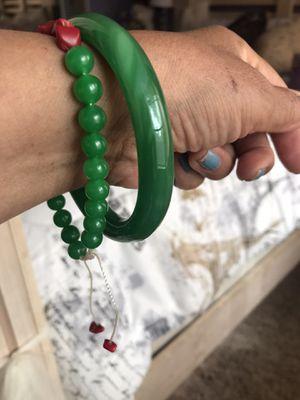 $55 // BRAND NEW Sz 7/8 GREEN JADE BRACELET for Sale in Rialto, CA