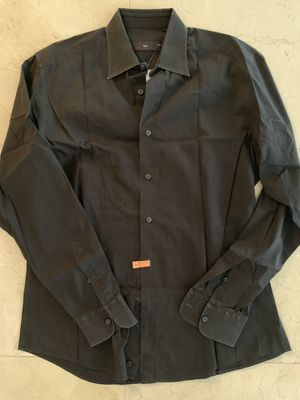 Ermenegildo Zegna Men luxury Black Dress Shirt | 39 / 15.5 for Sale in Miami, FL