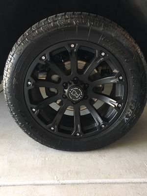 "Black Rhino Sidewinder 20"" Wheels with Toyo Tires for Sale in Fontana, CA"