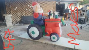 Tractor Santa xmas blowup it moves for Sale in Phoenix, AZ