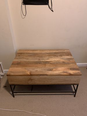 West Elm Industrial Storage Pop up Coffee Table for Sale in Taylors, SC