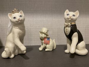 Figurine cats set - 👩❤️👨bride and groom , cool wedding present for Sale in Delray Beach, FL