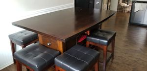 Dining table w/swivel chairs and bench for Sale in Lewisville, TX