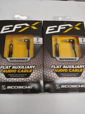 Audio accessories : ( total 2 ) 1 EFX SCOSCHE aux - rca 1f-2m y adapter cable & auxiliary cable 3 feet for Sale in Santa Ana, CA