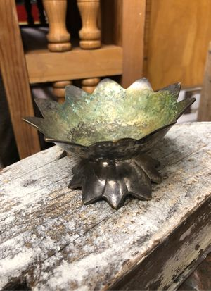 Antique silver rustic small bowl for Sale in Albuquerque, NM