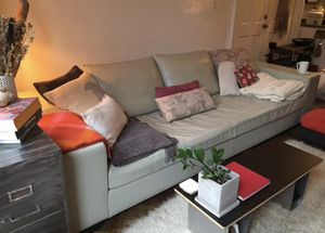 Soft Italian leather couch for Sale in Brooklyn, NY