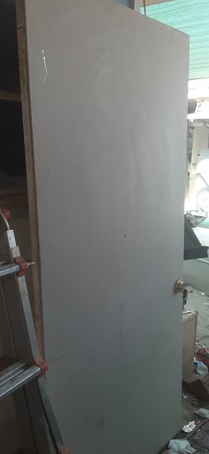 "I have a used solid metal insulated exterior door 36""w x 80"" h its got little damage to the deadbolt area other than that its fixable asking $50 for Sale in Fresno, CA"