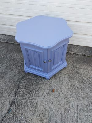 Beautiful purple side table with storage inside for Sale in Grandview, MO