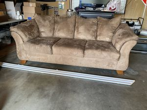 Brown Taupe Microfiber Sofa Couch for Sale in Modesto, CA
