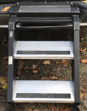 New *STEP ABOVE* by MORryde 2-Step Fold Out Adjustable height RV/CAMPER Stairs for Sale in New Haven, CT