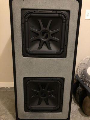 "2 ""15"" L7 kickers in custom box for Sale in Miami, FL"