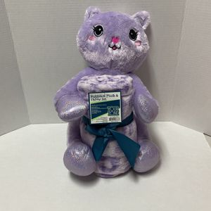 Huggable Plush & Throw Kitty Cat Set NEW for Sale in Fort Lauderdale, FL