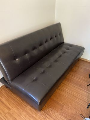 Leather Futon for Sale in Lake Elsinore, CA