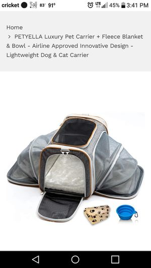 New Luxury Pet Carrier for Sale in Evansville, IN