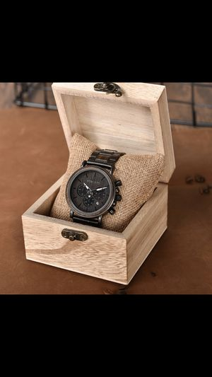Mens Wooden Watches Luxury Stainless Steel Wood Watch for Men Chronograph Quartz Watches Mens Wooden Watches Luxury Stainless Steel Wood Watch for Sale in Columbus, OH