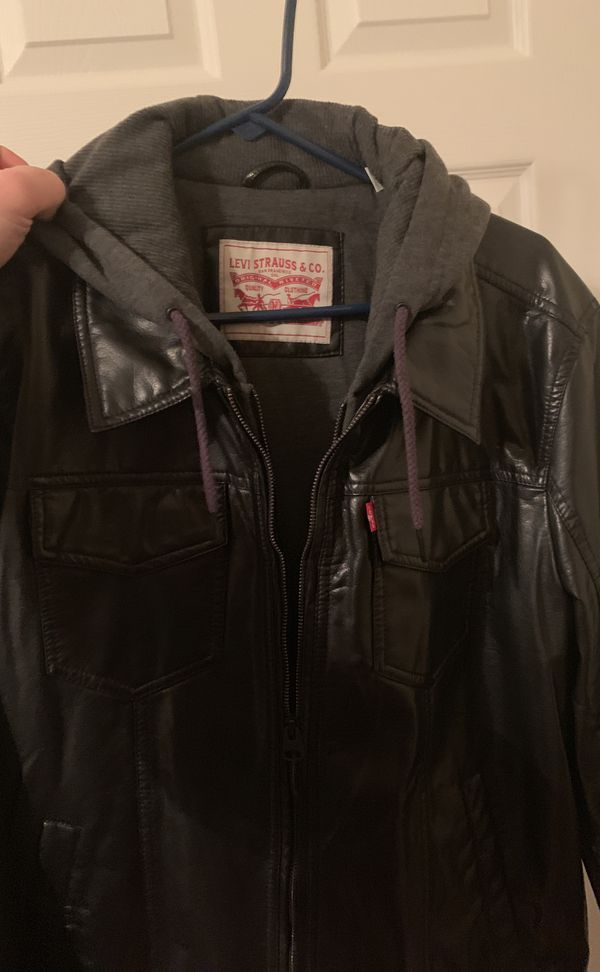 Brand newLEVI'S black leather jacket xl
