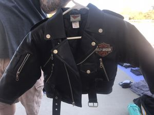 Toddler Harley Davidson leather jacket size 4 for Sale in Nuevo, CA