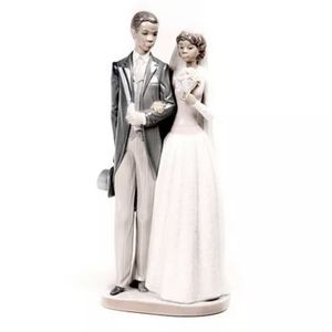"Lladro #5274 ""Wedding Day"" Black Bride and Groom Porcelain Figurine Retired! ALL Flowers Are There for Sale in Fort Lauderdale, FL"