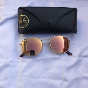 Ray Ban Hexagon 3548 Pink Lenses Sunglasses With Receipt for Sale in Arlington, VA