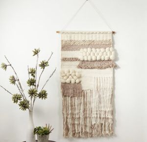 """Boho wool and viscose large wall art. 47"""" x 24"""" retails $158. Asking $95 for Sale in Woodstock, GA"""