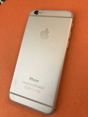 Apple iPhone 6 64gb silver white clean imei for Sale in Norco, CA