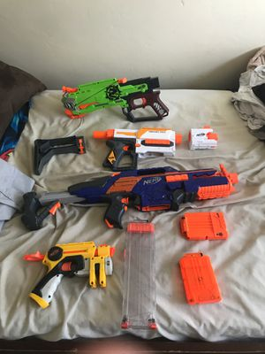 Nerf guns with bullets and accessories for Sale in San Diego, CA