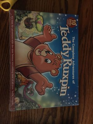 Unopened brand new 10 DVDs 65 episodes over 26 hours the complete adventure of Teddy Ruxpin. for Sale in Huntington Beach, CA