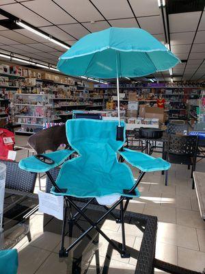 NEW Kids Folding Chair w/ Umbrella: njft seasonal kids for Sale in Burlington, NJ