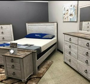 🧿BRAND NEW 🧿Willowton Whitewash Panel Bedroom Set | B267 for Sale in Jessup, MD