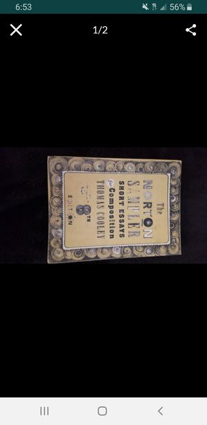 Norton sampler college book for Sale in San Antonio, TX