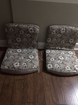 Cushions for patio furniture (4 matching cushions) for Sale in Clearwater, FL