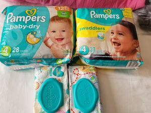 Pampers Size 4 Diapers & Wipes for Sale in Mill Creek, WA