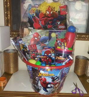 FIRM PRICE/PRECIO FIRME Spider Man Easter Basket Canasta de El hombre arana NO HOLDS/NO APARTO for Sale in Arlington, TX
